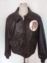 Vintage Cooper Sportswear A-2 Aviation Patched Flight Jacket Size 44R